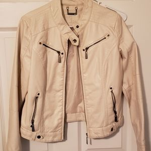 Jou Jou Vegan Leather Moto Jacket